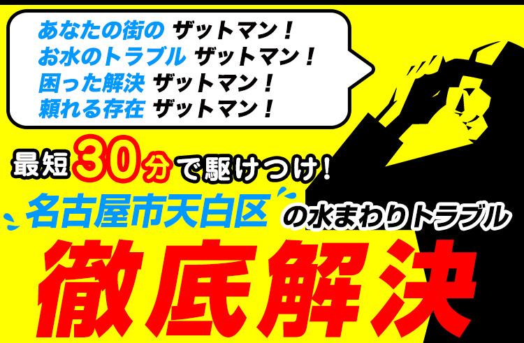 名古屋市天白区のトイレのつまり・水漏れ等、水まわりのトラブルの修理・解決ならザットマン